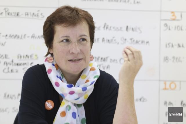 La candidate néo-démocrate dans Shefford, Claire Mailhot, a... (Janick Marois, La Voix de l'Est)