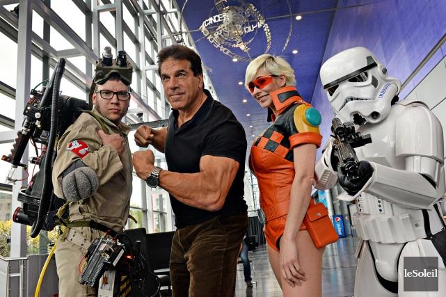 Lou Ferrigno (au centre), qui a incarné Hulk... (Le Soleil, Patrice Laroche)
