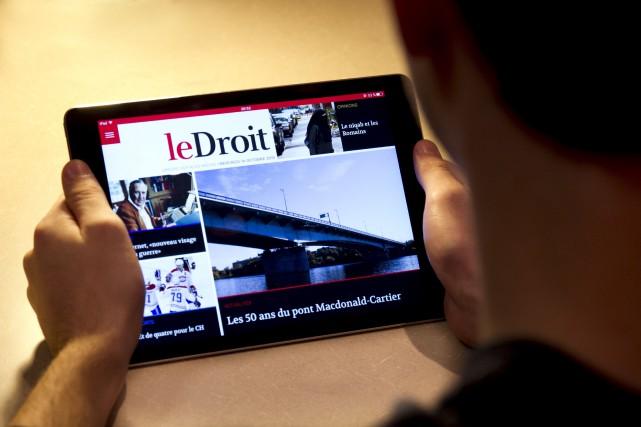 Toute l'équipe de Groupe Capitales Médias est aujourd'hui extrêmement fière de... (Martin Roy, LeDroit)