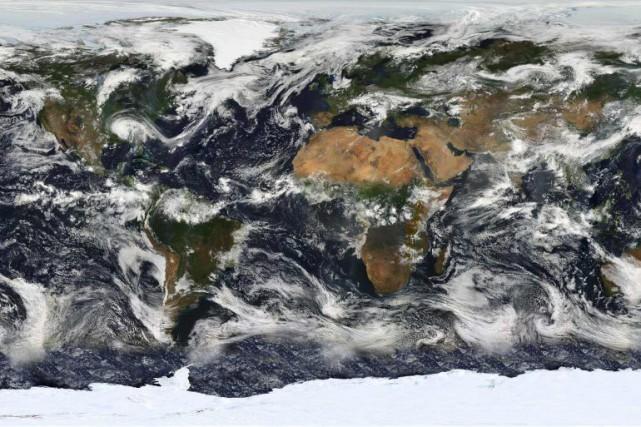 La Terre vue de l'espace.... (Photo fournie par la NASA)