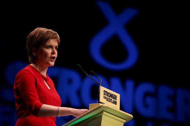 La chef du Parti national écossais,Nicola Sturgeon... (Photo Russell Cheyne, Reuters)