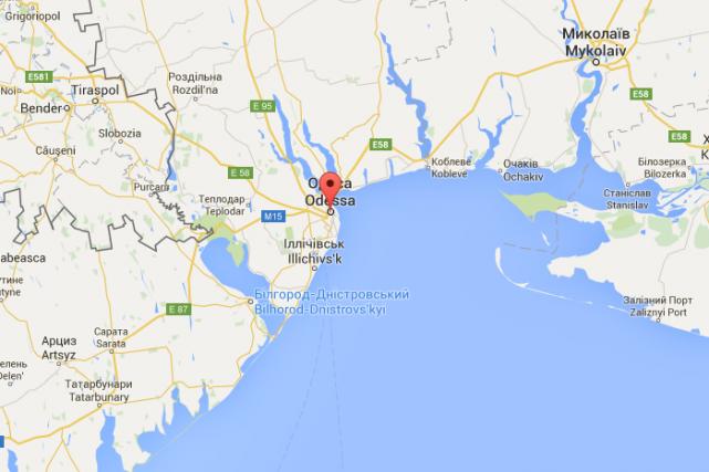 Le naufrage s'est produit au large d'Odessa... (CAPTURE D'ÉCRAN GOOGLE MAPS)