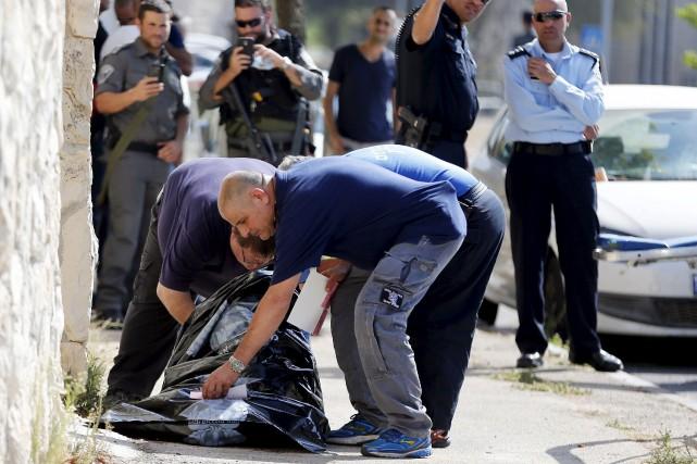 Un Palestinien a été abattu à Jérusalem après... (Photo Ammar Awad, Reuters)