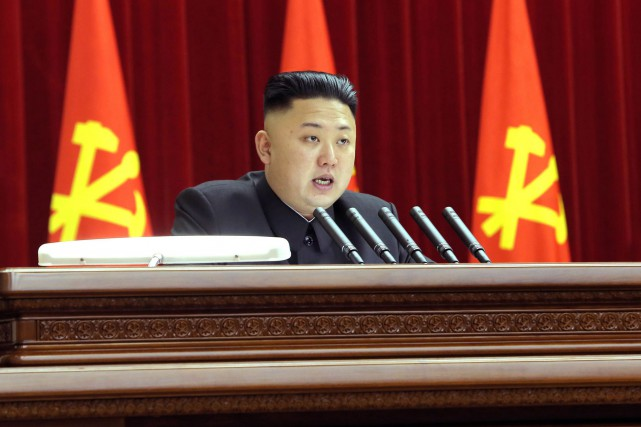 Le leader nord-coréen, Kim Jong-Un... (PHOTO d'archives AFP/KCNA)