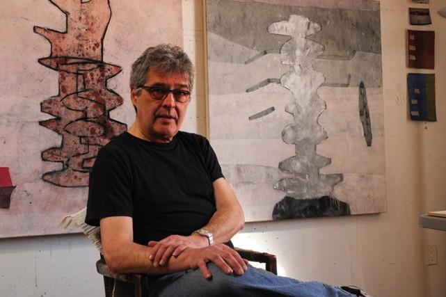 L'artiste Marc Garneau... (Photo Gabor Szilasi, fournie par le centre d'art 1700 La Poste)