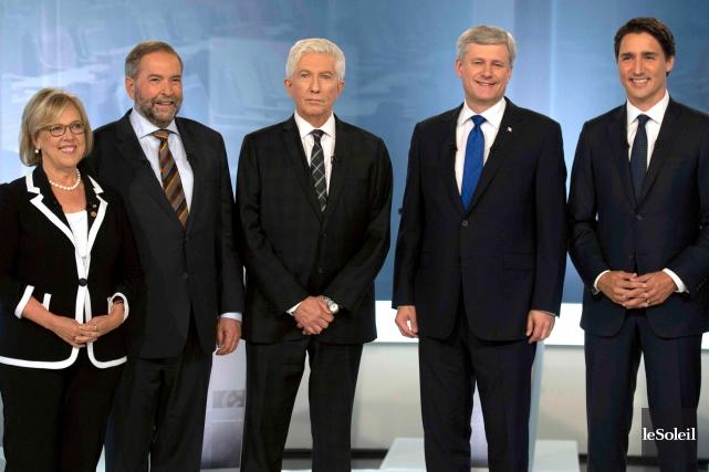 De gauche à droite, les chefs des principaux... (Photothèque Le Soleil)