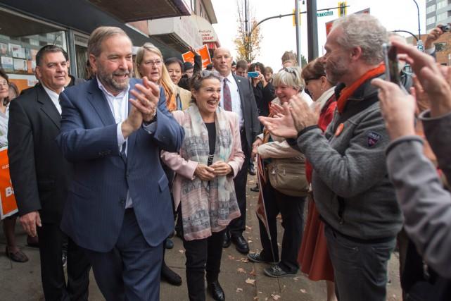 Le chef néo-démocrate, Thomas Mulcair, a fait un... (La Presse Canadienne, Ryan Remiorz)