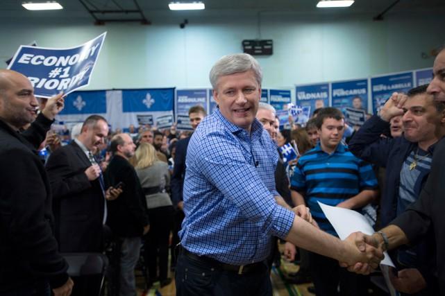 Le chef conservateur Stephen Harper a rencontré des... (La Presse Canadienne, Jonathan Hayward)