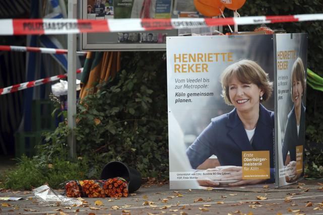 Henriette Reker, qui été poignardée devant sonkiosque d'information,... (AP, Oliver Berg)