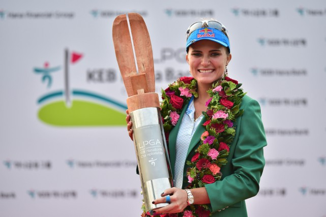 Lexi Thompson... (PHOTO JUNG YEON-JE, AFP)