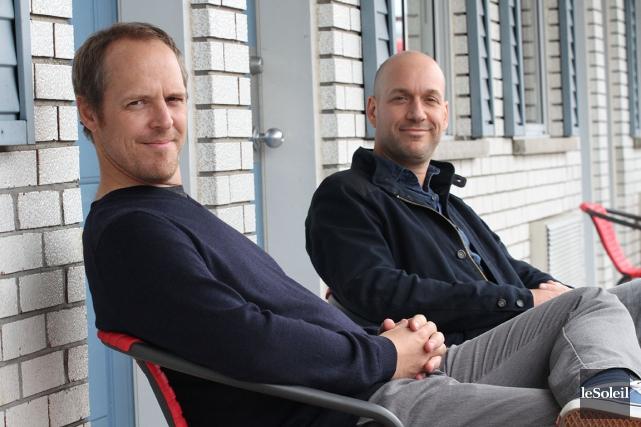 Fabien Cloutier et Martin Matte dans Les beaux... (Photothèque Le Soleil)