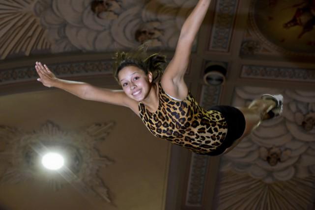 Sara-Jade Berthiaume a raison de sourire: elle participera... (Photo: François Gervais)