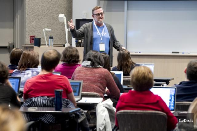EdTechTeam, organisation partenaire de Google, organise plus d'une... (Martin Roy, LeDroit)