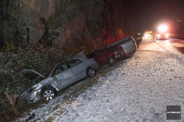 L'accident est survenu en début de soirée à... (PHOTO IMACOM, JULIEN CHAMBERLAND)