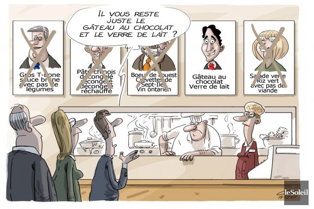 Caricature du mardi 20 octobre 2015... (Le Soleil, André-Philippe Côté)