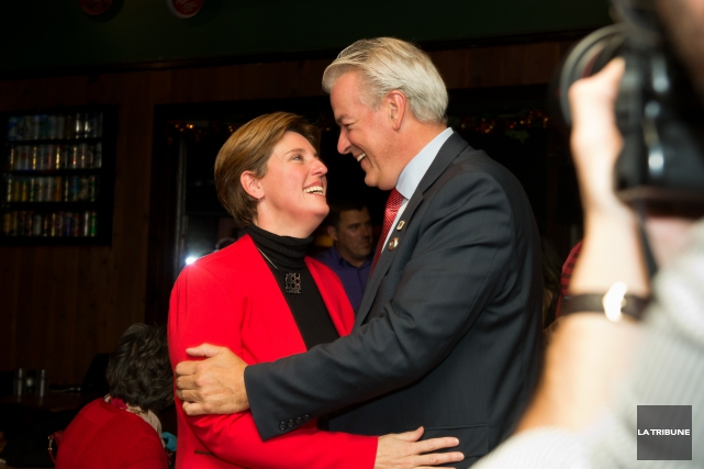 Marie-Claude Bibeau et son conjoint Bernard Sévigny, maire... (Imacom, Jessica Garneau)
