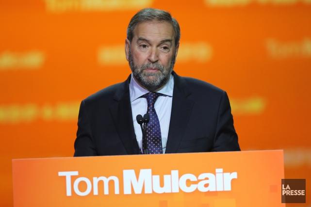Le néo-démocrate Thomas Mulcair a dû s'accrocher à... (PHOTO ANDRÉ PICHETTE, LA PRESSE)