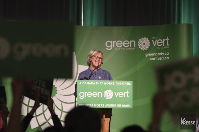 La chef du Parti vert, Elizabeth May... (Photo Chad Hipolito, archives PC)