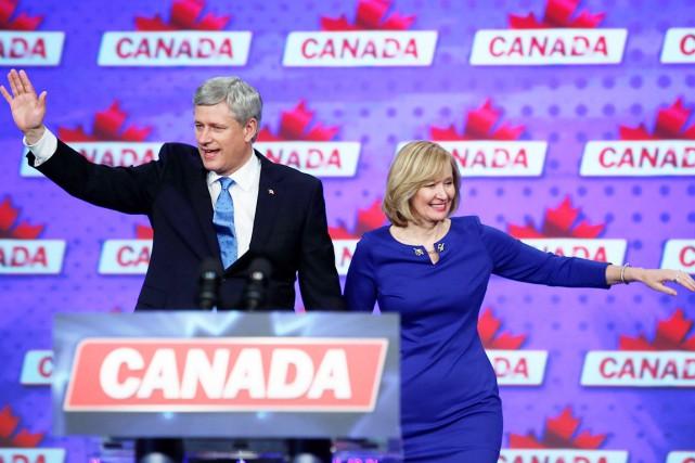 Le chef du Parti conservateur, Stephen Harper, démissionnera... (La Presse Canadienne, Graham Hughes)