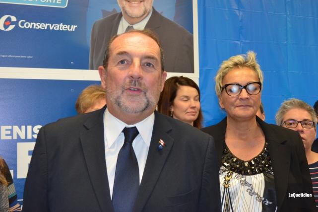 Le conservateur DenisLebel a conservé son siège dansla... (PHOTO LOUIS POTVIN, LE QUOTIDIEN)