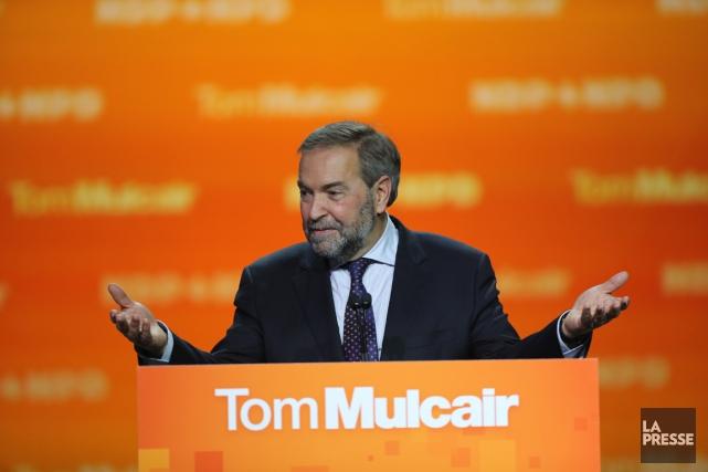 Thomas Mulcair sera monté du doigt pour l'écroulement... (PHOTO ANDRÉ PICHETTE, LA PRESSE)
