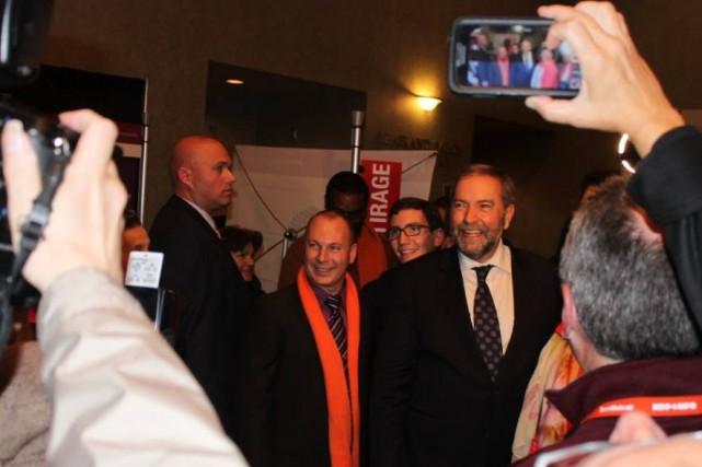 François Choquette lors d'un rassemblement avec le chef... (Photo Facebook)