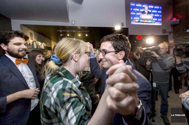 Le député sortant néo-démocrate dans Sherbrooke, Pierre-Luc Dusseault,... (Imacom, Jocelyn Riendeau)