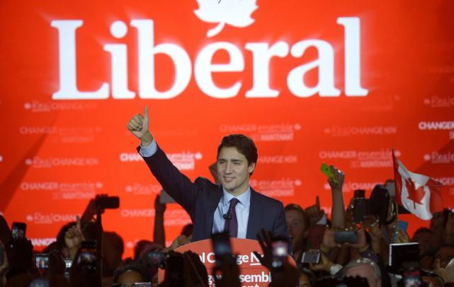 Justin Trudeau a été élu premier ministre du... (La Presse Canadienne)