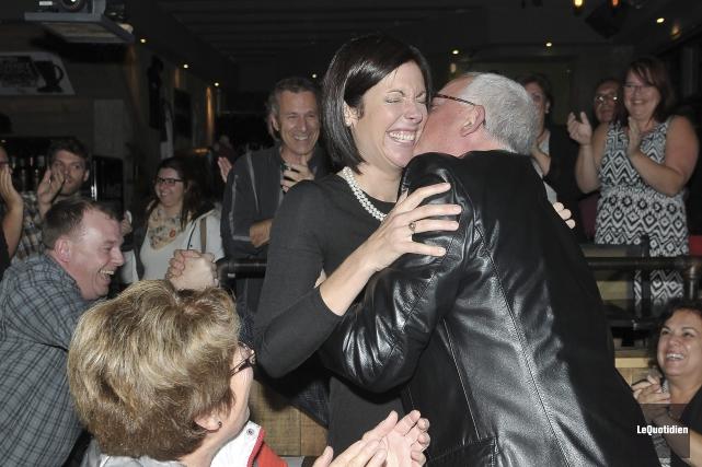 La néo-démocrate Karine Trudel est la nouvelle députée... (Photo Le Quotidien, Rocket Lavoie)