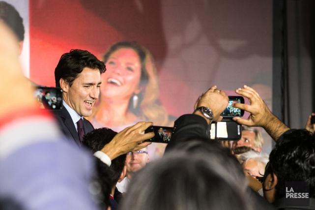 Au Québec, les libéraux de Justin Trudeau ont... (Photo Hugo-Sébastien Aubert, La Presse)
