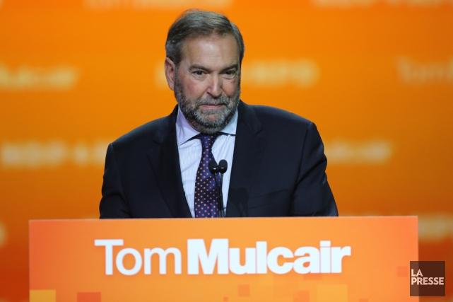Le chef du NPD Thomas Mulcair a passé... (André Pichette, La Presse)
