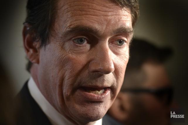 Le chef du Parti québécois, Pierre Karl Péladeau... (PHOTO BERNARD BRAULT, LA PRESSE)