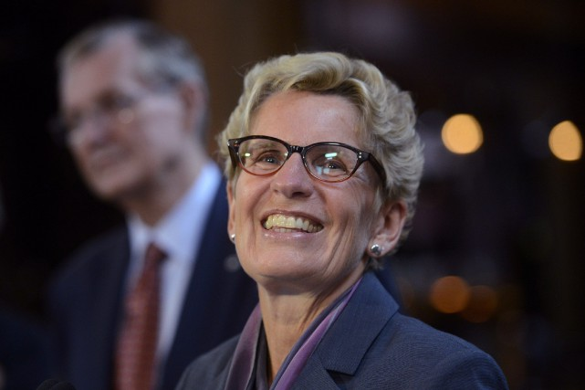 La première ministre de l'Ontario, Kathleen Wynne... (PHOTO ARCHIVES LA PRESSE CANADIENNE)