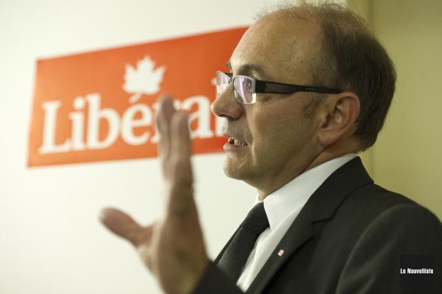 Yvon Boivin, candidat libéral dans la circonscription de... (Photo: Stéphane Lessard Le Nouvelliste)