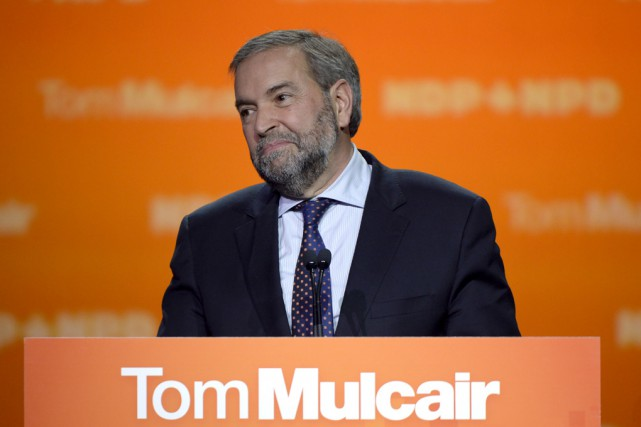 Le chef néo-démocrate, Thomas Mulcair, a passé la... (Archives La Presse Canadienne)