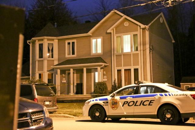Les policiers de Granby se trouvent à cette... (Photo Julie Catudal)