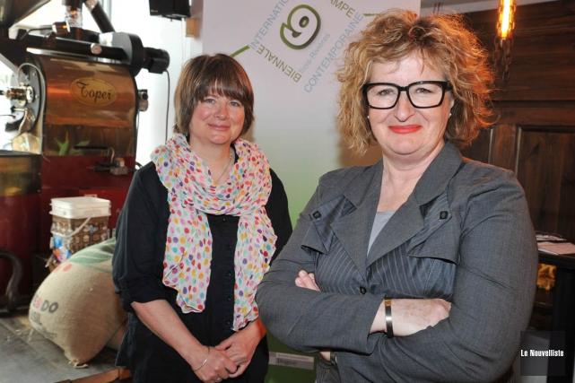 Élisabeth Mathieu (à gauche)succède à Jo-Ann Lanneville commeprésidente... (Andréanne Lemire, Le Nouvelliste)