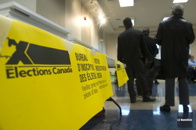 La 42eélection canadienne a vu plus d'électeurs de... (Photo: Stéphane Lessard, Le Nouvelliste)