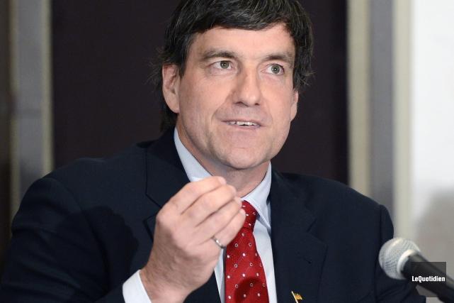Le nouveau député libéral de Chicoutimi, Denis Lemieux.... (Archives Le Quotidien, Jeannot Lévesque)