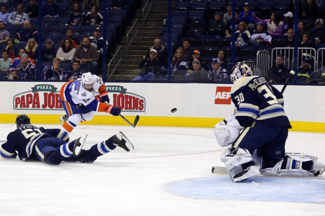 Jaroslav Halak a stoppé 37 tirs et les Islanders de New York ont mérité un... (Photo USA Today Sports)