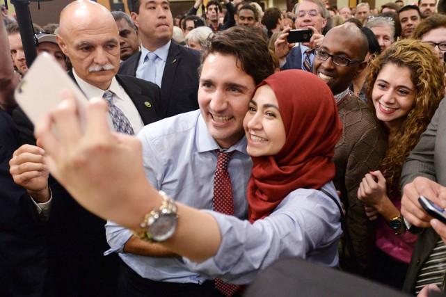 Justin Trudeau a passé la matinée de mardi... (La Presse Canadienne, Paul Chiasson)