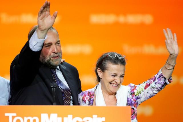 En compagnie de sa femme Catherine, le chef... (Photo André Pichette, La Presse)