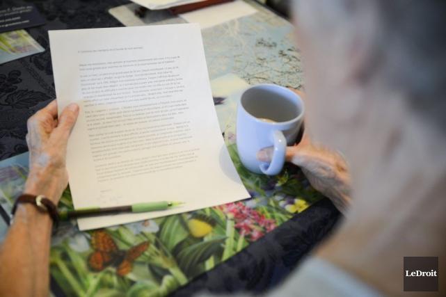 Denise a reçu une touchante lettre de l'homme... (Martin Roy, LeDroit)
