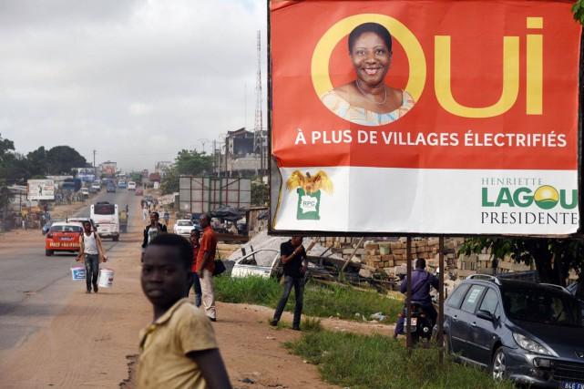 Henriette Lagou, ancienne ministre du gouvernement Gbagbo, est... (PHOTO SIA KAMBOU, ARCHIVES AFP)