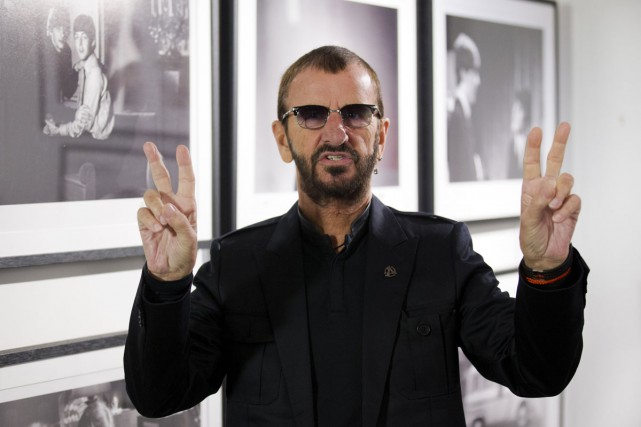 En 2015, Ringo Starr a enfin été intronisé au Rock and Roll Hall of Fame par... (PHOTO AFP)