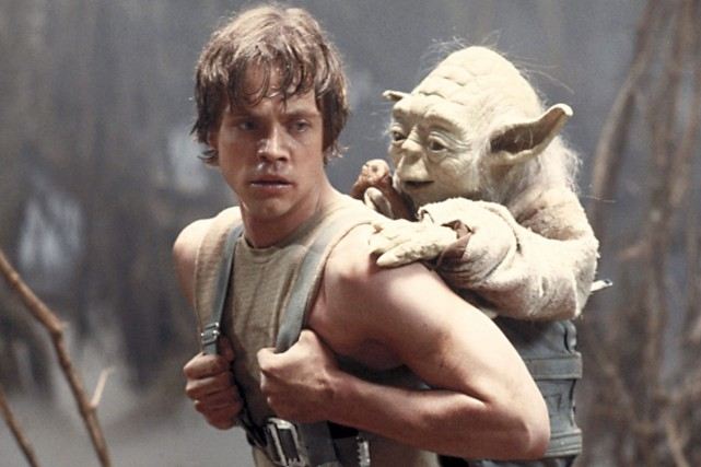 Luke Skywalker et Yoda dans Star Wars Episode... (PHOTO LUCASFILM)