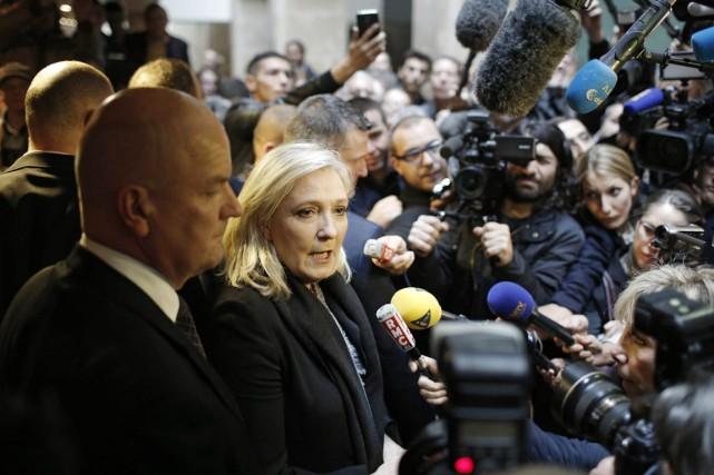 La présidente du FN a été convoquée, hier,... (PHOTO LAURENT CIPRIANI, AP)