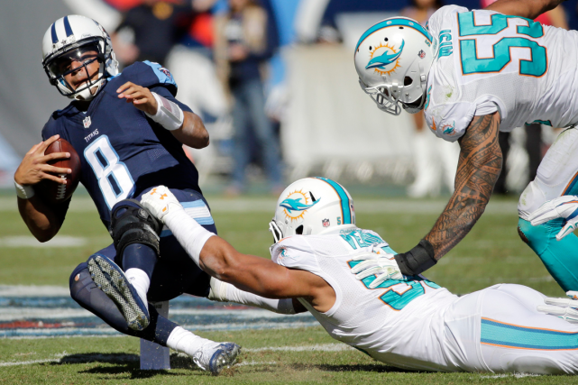 L'ailier défensif des Dolphins de Miami Olivier Vernon... (Photo James Kenney, AP)