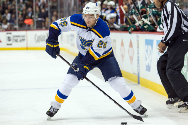 Paul Stastny a subi une fracture au pied... (Photo Brace Hemmelgarn, archives USA Today)