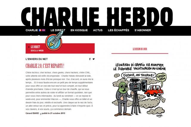 Le site de Charlie Hebdo est maintenant offert... (CAPTURE D'ÉCRAN)